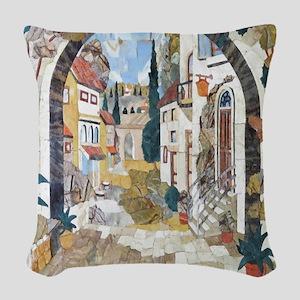 Italian Street Woven Throw Pillow