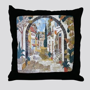 Italian Street Throw Pillow