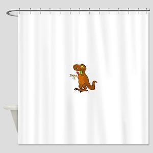 Puppeteer Tyrannosaurus Shower Curtain
