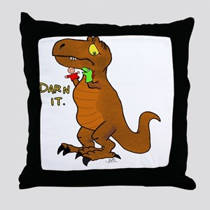 Puppeteer Tyrannosaurus Throw Pillow