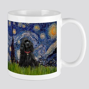 Starry Night & Black Cocker Spaniel Mug