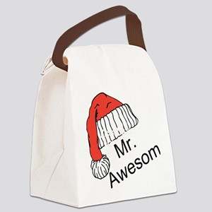 Mr. Awesome Canvas Lunch Bag