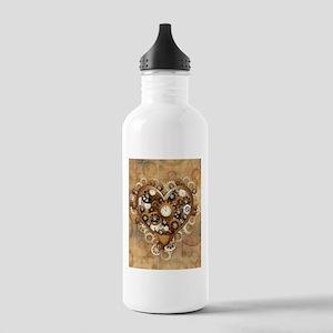 Steampunk Heart Love Water Bottle