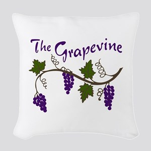 THE GRAPEVINE Woven Throw Pillow