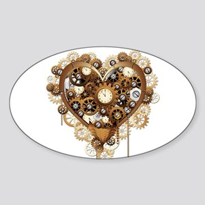 Steampunk Heart Love Sticker