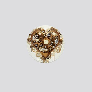 Steampunk Heart Love Mini Button