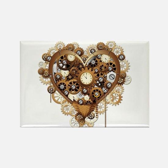 Steampunk Heart Love Magnets