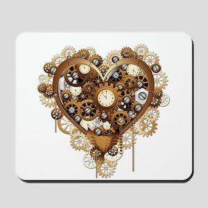 Steampunk Heart Love Mousepad