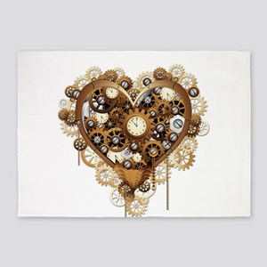 Steampunk Heart Love 5'x7'Area Rug