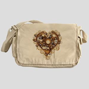 Steampunk Heart Love Messenger Bag
