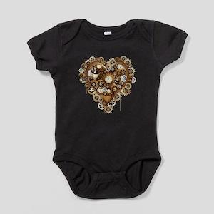 Steampunk Heart Love Baby Bodysuit