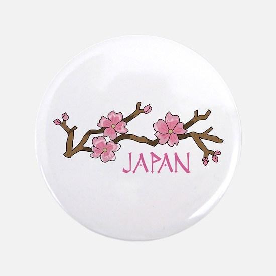 "JAPAN CHERRY BLOSSOM 3.5"" Button"