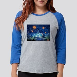 Halloween Night In Cemetery Long Sleeve T-Shirt