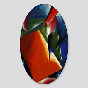 Architectonic Painting - abstract a Sticker (Oval)