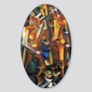 Composition with Figures Sticker (Oval)
