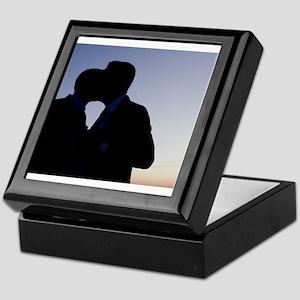 LGBT gay wedding marriage grooms kiss Keepsake Box