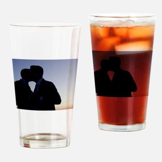 LGBT gay wedding marriage grooms ki Drinking Glass