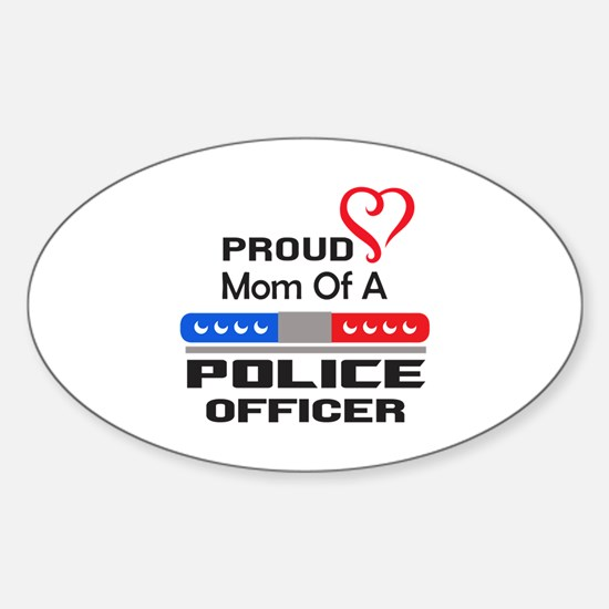 PROUD MOM AN OFFICER Decal