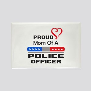 PROUD MOM AN OFFICER Magnets
