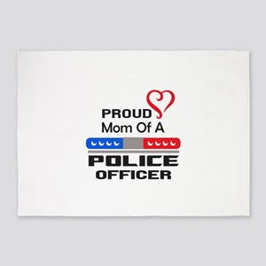 PROUD MOM AN OFFICER 5'x7'Area Rug