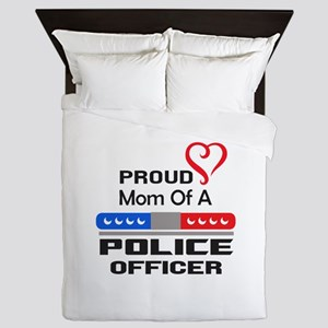 PROUD MOM AN OFFICER Queen Duvet