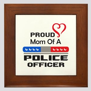 PROUD MOM AN OFFICER Framed Tile