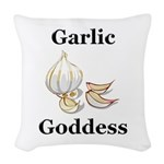 Garlic Goddess Woven Throw Pillow