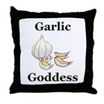 Garlic Goddess Throw Pillow
