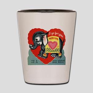 Vintage Elephant Valentine Shot Glass
