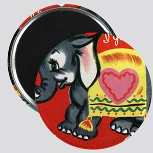 Vintage Elephant Valentine Magnets