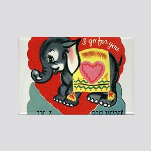 Vintage Elephant Valentine Magnets