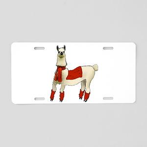 Llama Aluminum License Plate