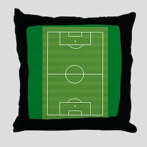 Soccer field Throw Pillow
