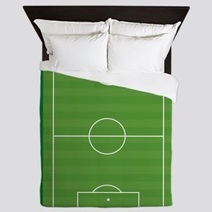 Soccer field Queen Duvet