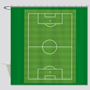 Soccer field Shower Curtain