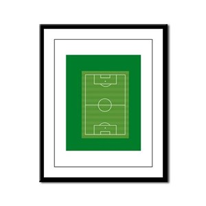 Soccer field Framed Panel Print