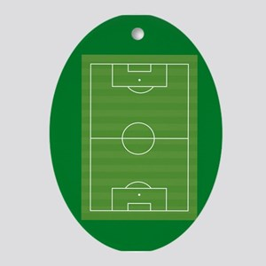 Soccer field Ornament (Oval)