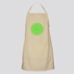 Lime Green Radial Zig Zag Apron