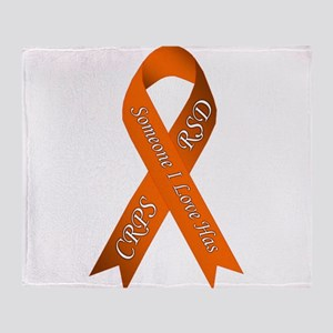 Someone I Love has CRPS RSD Orange A Throw Blanket