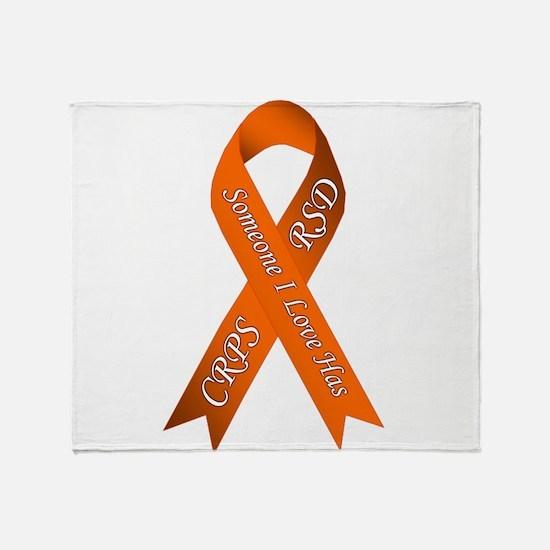 Someone I Love has CRPS RSD Orange A Throw Blanket