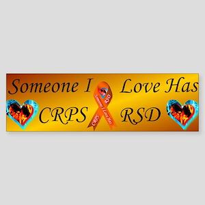 Someone I Love Has CRPS RSD Ribbo Sticker (Bumper)