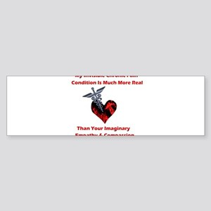 Invisible Chronic Pain Red Heart Sticker (Bump