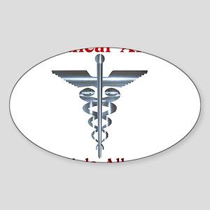 Multipe Allergies Medical Alert Sticker (Oval)