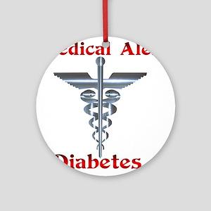 Medical Symbol Diabetes Medical Alert Ornament (Ro