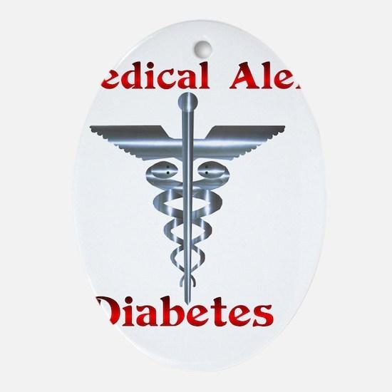 Medical Symbol Diabetes Medical Alert Ornament (Ov