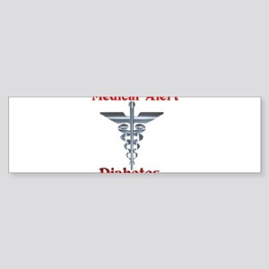 Medical Symbol Diabetes Medical Alert Sticker (Bum