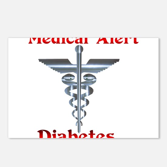 Medical Symbol Diabetes Medical Alert Postcards (P