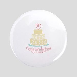 "Congratulations Cake 3.5"" Button"
