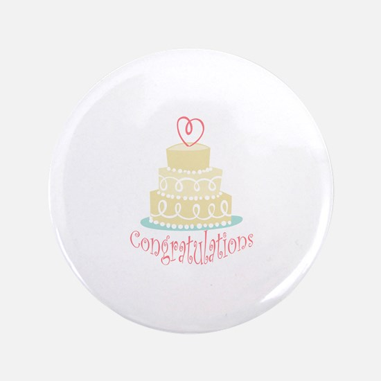 "Congratulations Cake 3.5"" Button"