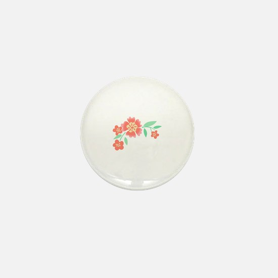 Floral Accent Mini Button